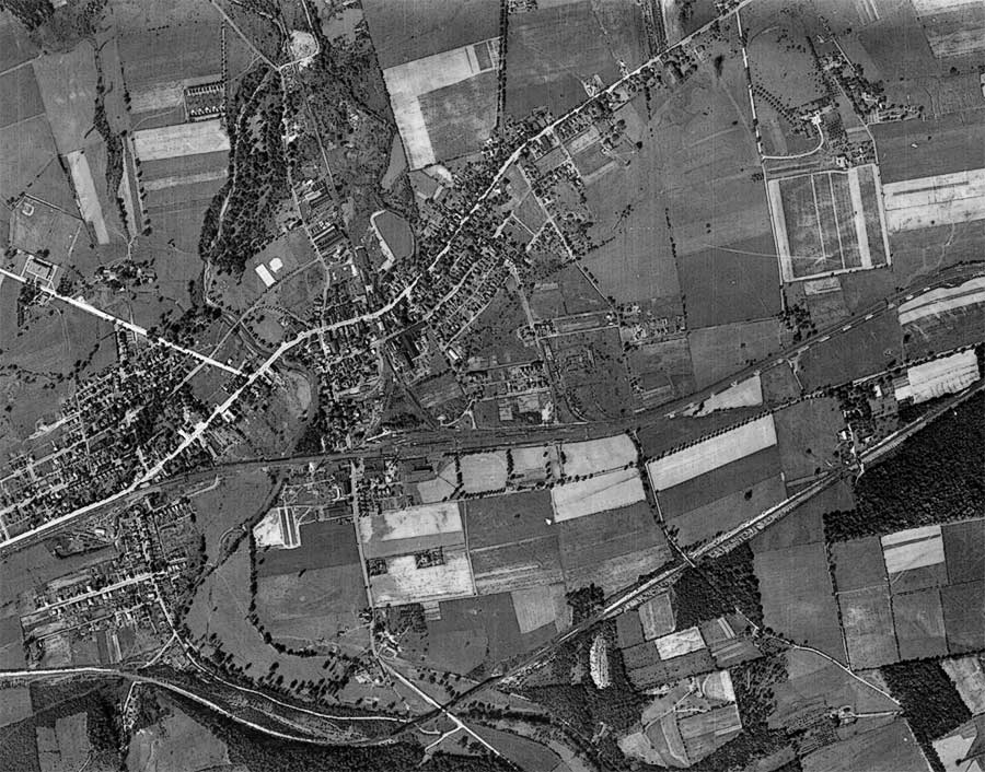 1937 Aerial Photo of Downingtown PA