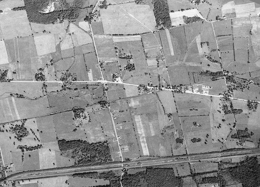 1937 Aerial Photo of Exton PA